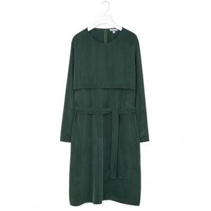 COS Dark Green Belted Dress with Pockets